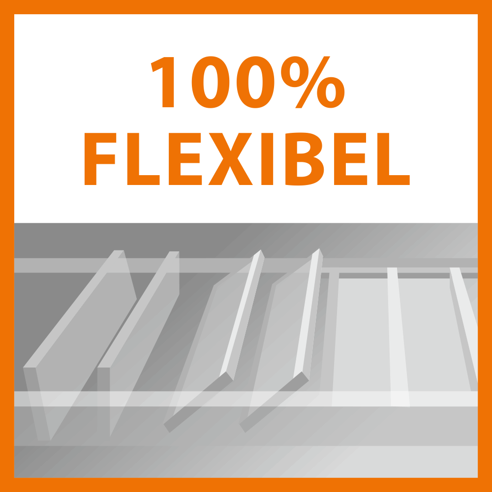 100% flexibel